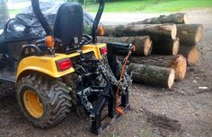 DIY Homemade Log Skidder / Winch On 4x4 Tractor Getting Put to Work