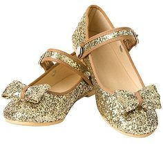 New Puppet Workshop Gold Glitter Shoes Little Girls 1