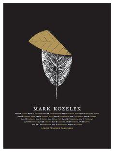 Mark Kozelek 2008 Summer Tour Poster by Jason Munn. Graphic Design Posters, Graphic Design Typography, Graphic Design Illustration, Graphic Design Inspiration, Simple Poster Design, Editorial Design, Photoshop, Mark Kozelek, Illustration Inspiration