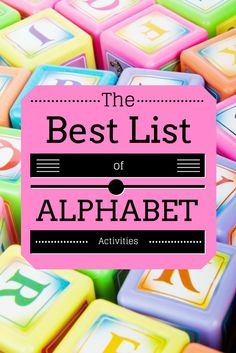 A fantastic list of alphabet activities and games for toddlers and preschoolers to build letter recognition and sound relationships. They are all hands-on and playful!