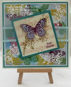 Tinyrose's Craft Room: Best Wishes using stamps by Visible Image