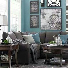 I love the chocolates, grays & real combinations…cozy living room! I love the chocolates, grays & real combinations…cozy living room! Cozy Living Rooms, Living Room Grey, Home Living Room, Living Area, Small Living, Modern Living, Charcoal Sofa Living Room, Living Room Ideas With Grey Walls, Navy Blue And Grey Living Room