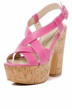 DeluxeBuys - Productos - Zapatos & Zapatillas de Mujer de Credo - Plataforma Corcho Tiras Cruzadas - Fucsia