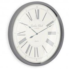 Stunning Grey Wall Clock - The Heritage Wall Clock Grey Wall Clocks, Large Clock, Grey Walls, Decorating Your Home, Home Decor, Gray Walls, Decoration Home, Room Decor, Home Interior Design
