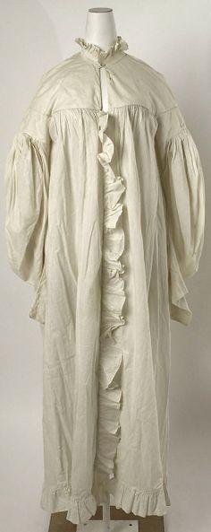 Dressing gown Date: 1835–40 Culture: American or European Medium: cotton