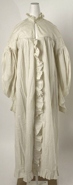 Dressing gown Date: 1835–40 Culture: American or European Medium: cotton