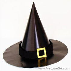 Create your own witch's hat out of construction paper for a fantastic Halloween costume.