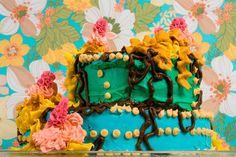 Amy Steven's photogprahs her 'art' - cakes oozing in delish colour.
