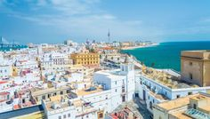 Cadiz, Spain The Most Stunning Coastal Towns in Europe Places To Travel, Places To See, Greek Town, Cadiz Spain, Medieval Town, Spain And Portugal, How To Level Ground, Amazing Destinations, Aerial View
