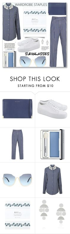 """""""Tried and True - Wardrobe Staples: 23/08/17 (WGC)"""" by pinky-chocolatte ❤ liked on Polyvore featuring Want Les Essentiels de la Vie, Common Projects, VIVETTA, Clinique, Inked by Dani, Annie Costello Brown and Loewe"""