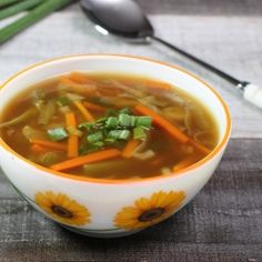 Easy and tasty vegetable soup with soy sauce.