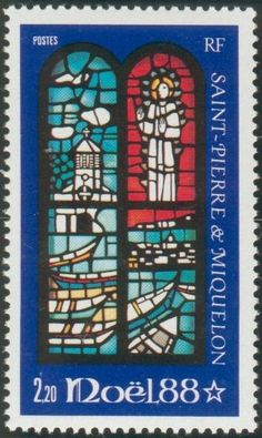 Stamp: Stained Glass (Saint Pierre and Miquelon) (Christmas) Mi:PM 568,Yt:PM 496
