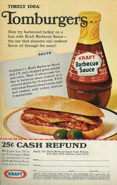 "1967 Kraft Barbecue Sauce ""Tomburgers"""