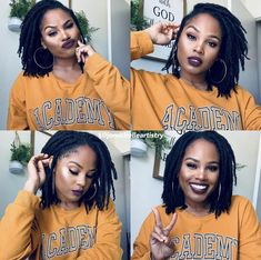 Short Locs Hairstyles, My Hairstyle, African Hairstyles, Pretty Hairstyles, Natural Hair Care, Natural Hair Styles, Natural Dreads, Natural Hair Accessories, Beautiful Dreadlocks