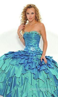 Ball Gown Taffeta Strapless Long Dress Charm89382