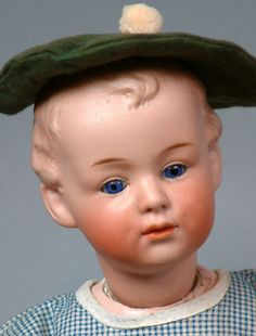 Gebruder Heubach German Pouting Character Antique Doll c1910