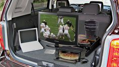 15 Tailgating Gadgets for Partying at the Game {this picture is what i imagine tailgating will look like this year! :) }