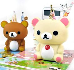 Rilakkuma and Korilakkuma Pen Holder