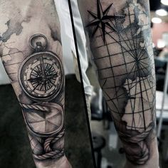 Men's Square And Compass Tattoo