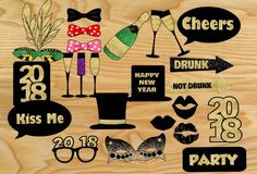 Here are more than 20 adorable andFree Printable New Year 2018 Photo Booth Props that you can print for your new year party. These props are perfect for teen's new year party and adults new year's party. These cute props have a color scheme of black and gold glitter. The glitter won't print as metallic but it will look super awesome in photographs. You just need to print these props, cut around the edges and stick on canes or sticks.[Read more]