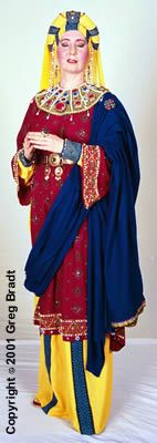 Costume of an Upper Class Byzantine Lady