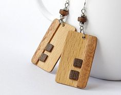 Popular items for wood veneer jewelry on Etsy
