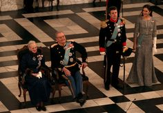Queen Margrethe II of Denmark Prince Consort Henrik of Denmark Crown Prince Frederik and Crown Princess Mary of Denmark attend New Year's Levee held...