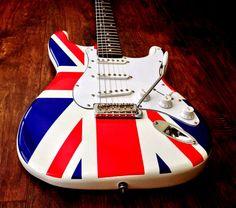 NEW VINTAGE V6JMH-UK UNION JACK JIMI HENDRIX STRAT GUITAR LIMITED ED CASE OPTION #Vintage Guitar Amp, Cool Guitar, Guitars For Sale, Guitar Design, Musical Instruments, Bass, Musicals, Jackets, Music Instruments