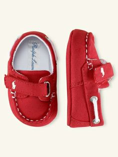 $25.50 Sander Canvas Boat Shoe - Shoes   Layette Boy (Newborn–9M) - RalphLauren.com
