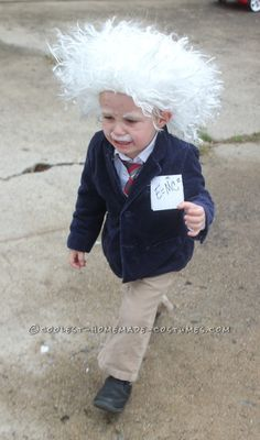Cool Homemade Albert Einstein Toddler Costume ... This website is the Pinterest of costumes
