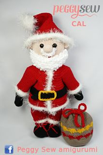 With this pattern you can make your own Maxi Santa. Christmas Projects, Christmas And New Year, Christmas Diy, Christmas Ornaments, Crochet Christmas, Thread Crochet, Crochet Hooks, Free Crochet, Amigurumi Patterns