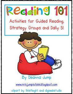 Guided Reading activities & ideas some free ideas some lead to tpt but worth it!