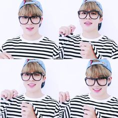 Jimin so cute with glasses!