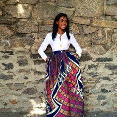 Maxi stampa africana-il Maxi di Mel