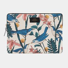 Storage bag for laptop with bird motif. Fabric: Technical canvas with of protective foam. Macbook Pro 13, Funda Macbook Air, Macbook Air 13 Sleeve, Laptop Pouch, Design Shop, Am Pm La Redoute, Beach Clean Up, Flamingo Gifts, Scrappy Quilts