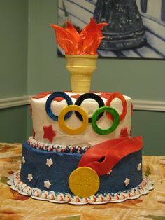 Olympics Cake.  You wouldn't believe how many olympic cakes there are pinned on here!