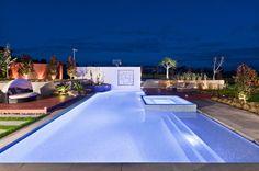 contemporary landscape by C.O.S Design raised spa