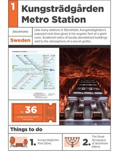 Infographic: 12 Beautiful Subway Stations From Around The World