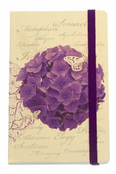 Grandluxe Purple Poem Journal, Large, 5.5 x 8.3 Inches Grandluxe