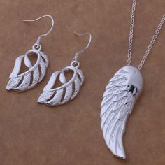 AS329 Hot 925 sterling  silver Jewelry Sets Earring 509 + Necklace 146 /amzajega atmajkta