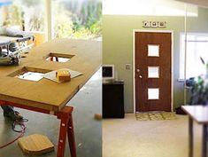 good idea: give your existing door a mid-century modern twist with crestview doors' doorlite kits.
