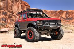 OR-Fab's Jeep XJ gets lots of attention on the trail, but it's not just because of its bright red paint.