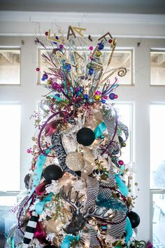Christmas Tree Ideas – Our Whimsical Christmas Formal Living Area – Gestaltungsideen White Flocked Christmas Tree, Pink Christmas Tree Decorations, Whimsical Christmas Trees, Colorful Christmas Tree, Christmas Fun, Flocked Trees, Woodland Christmas, Turquoise Christmas, Traditional Christmas Tree