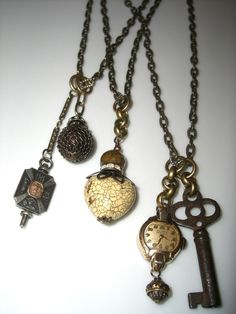 Key & Watch Necklace