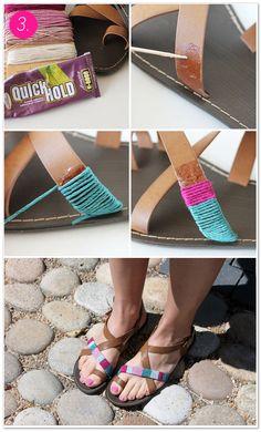 DIY 4 x sandalen pimpen