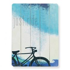 Just Ride Wall Art 14x20