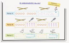 """Musicograma """"Marcha"""" de """"El Cascanueces"""". Recurso de Zoandoovento. Cup Song, Elementary Music Lessons, Map Activities, Active Listening, Music For Kids, Music Classroom, Teaching Music, Music Education, Music Videos"""
