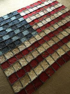 Heather Spence Designs: american flag rag quilt and Aurifil thread giveaway! Heather Spence Designs: american flag rag quilt and Aurifil thread giveaway! Star Spangled Banner, Quilting Projects, Quilting Designs, Sewing Projects, Quilting Ideas, Sewing Ideas, American Flag Quilt, American Flag Crafts, Blue Jean Quilts