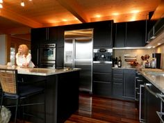 Who knew that such luxurious (and expensive) pre-fab homes existed? Nice kitchen!