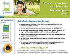 Books by Janet - Janet McKetchnie - Quickbooks bookkeeping services.  www.booksbyjanet.com
